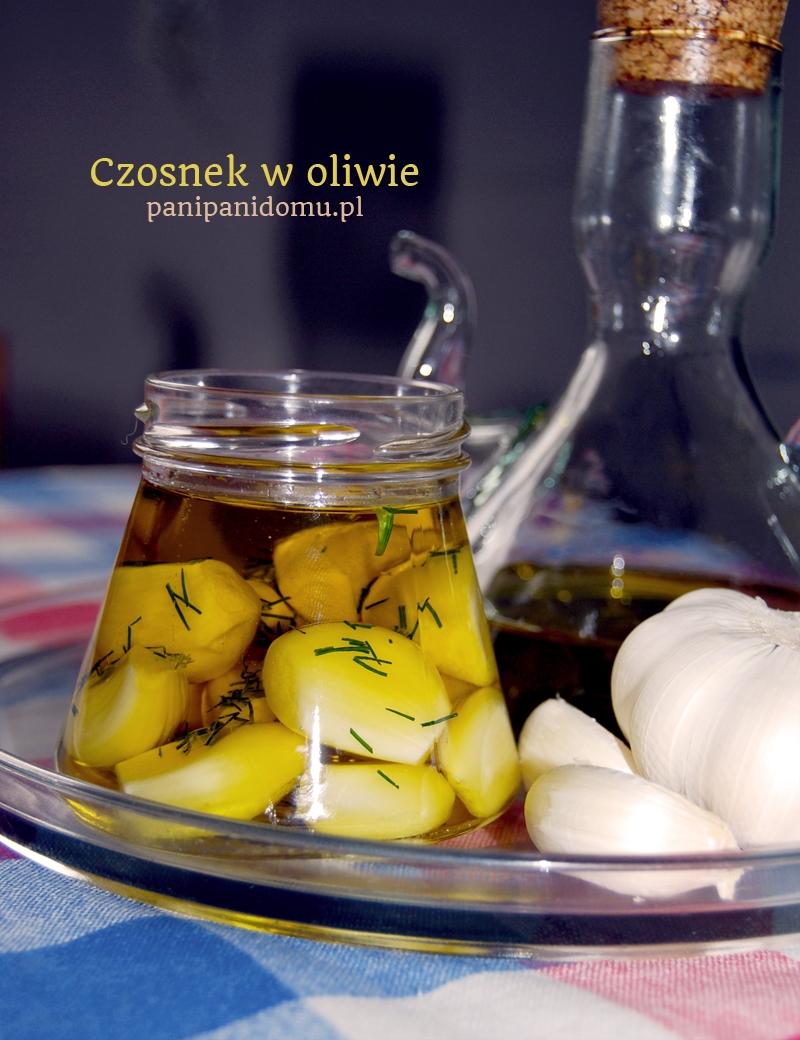 przepis na czosnek w oliwie