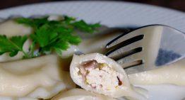 Pierogi z serem feta i cukinią