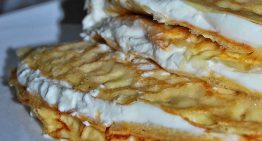 Naleśniki z mąki ryżowej i kukurydzianej z serem