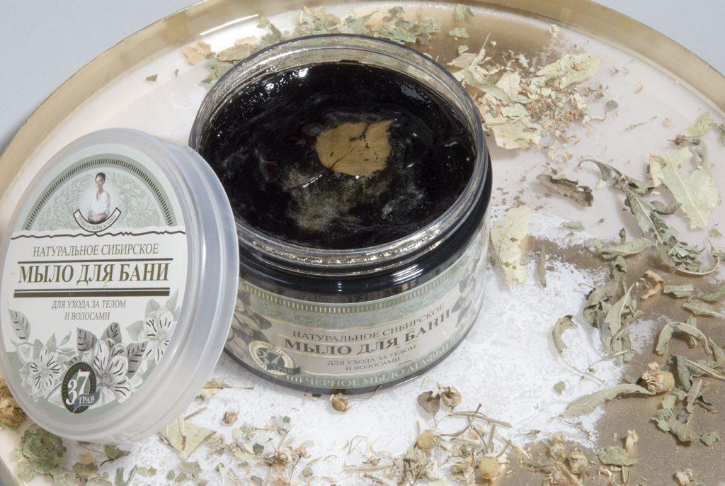 czarne mydło agafii